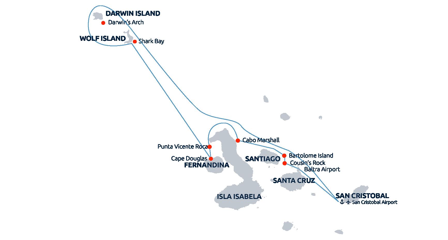 Galapagos Master - Divesites Map