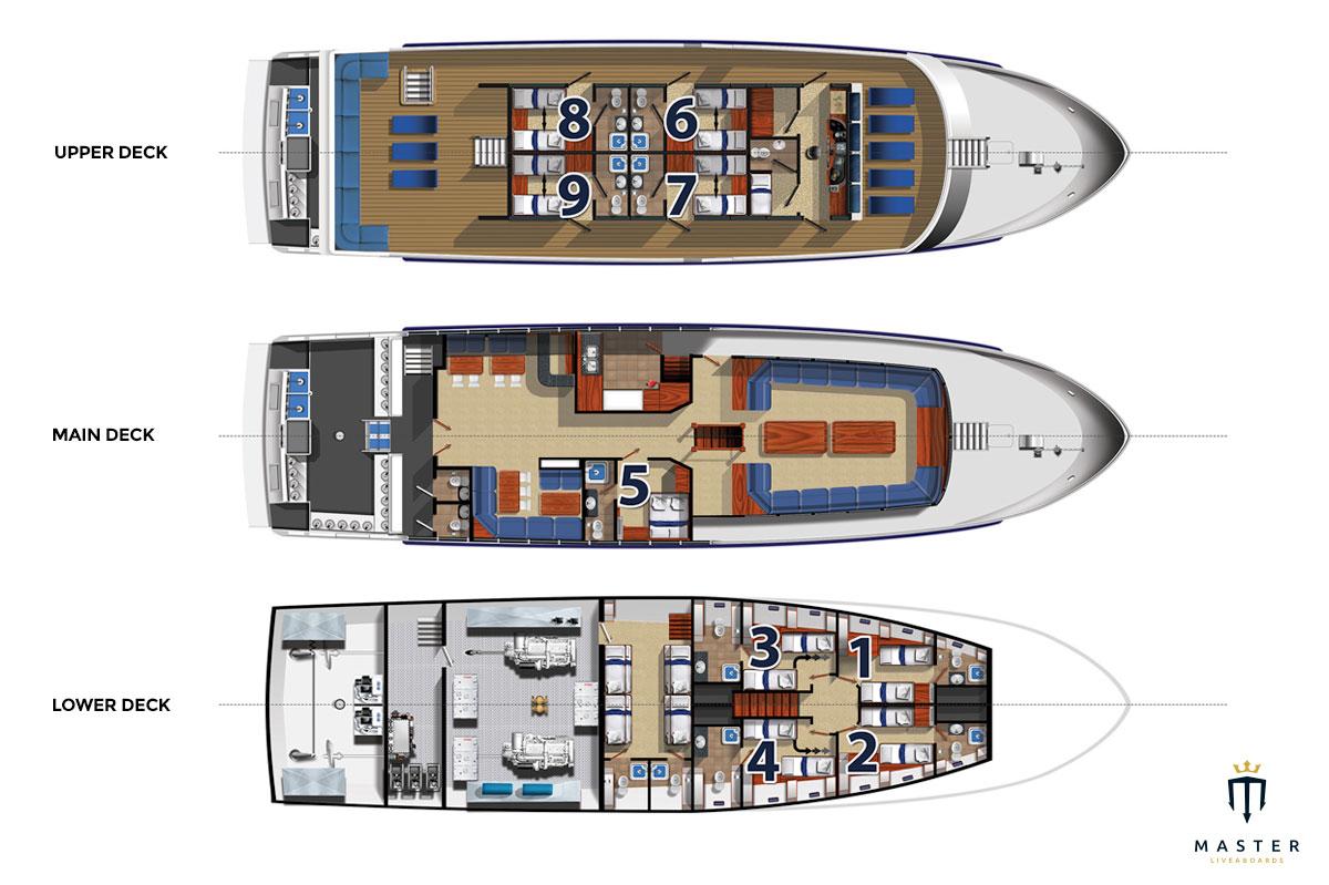 Deck plan - Galapagos Master