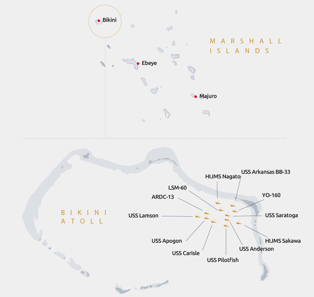 Bikini Atoll divesites and wrecks