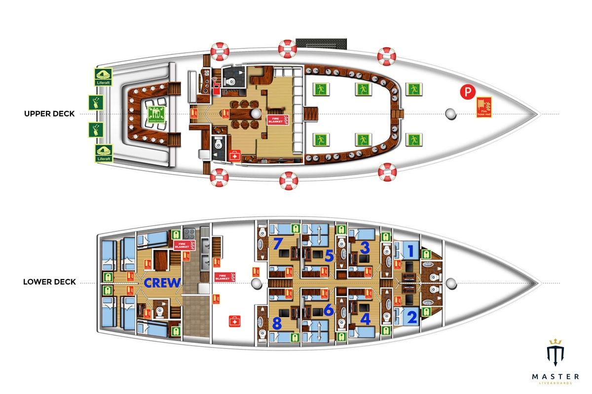 Palau Siren Deck plan