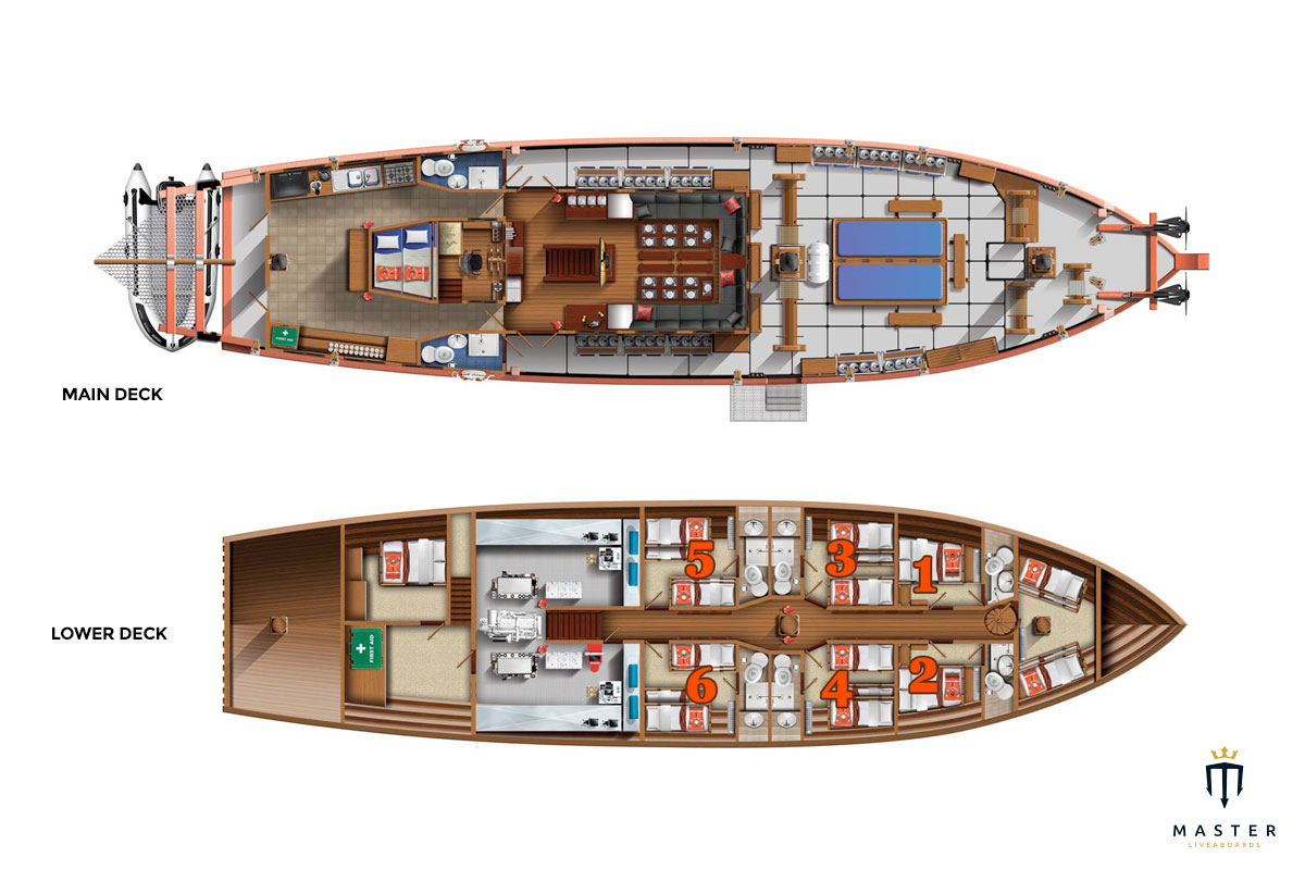 Deck plan - the Junk