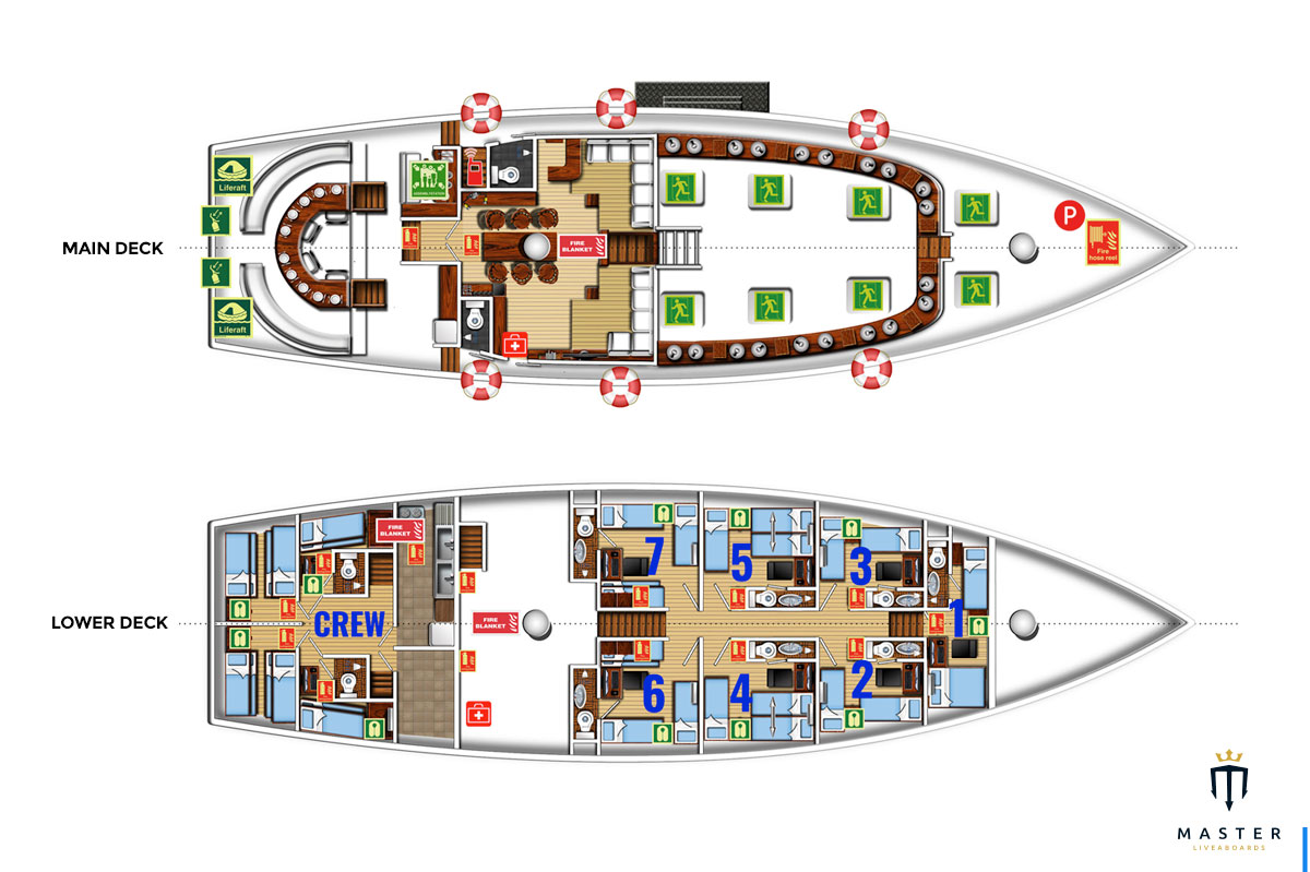 Deck plan - the Phinisi