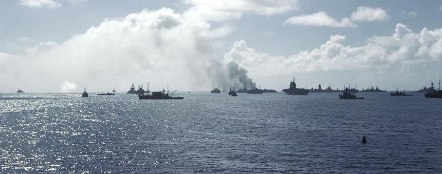 Ghost fleet in Bikini Atoll