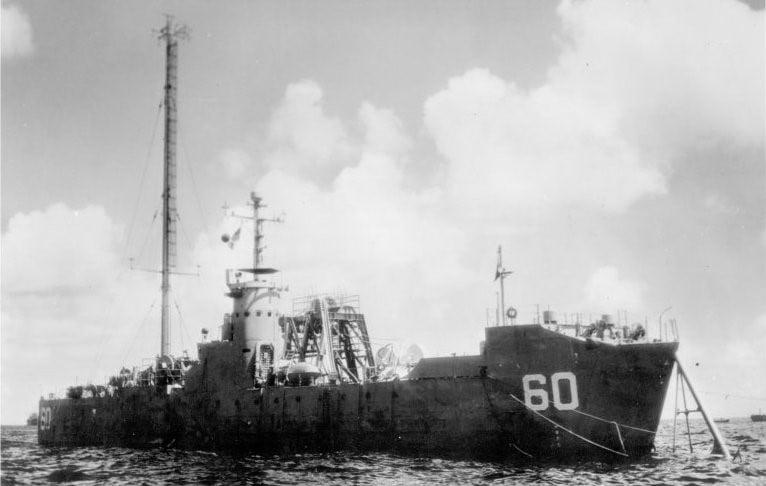 LSM-60 moored in Bikini Atoll