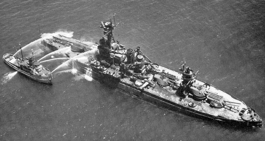 USS New York post Baker