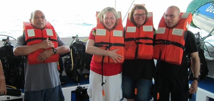 Muster drill aboard Galapagos Master