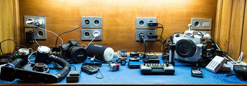 Camera gear at the ready