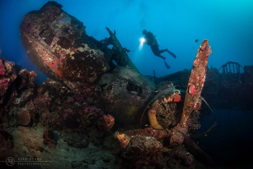 Japanese Mavis wreck in the Solomons