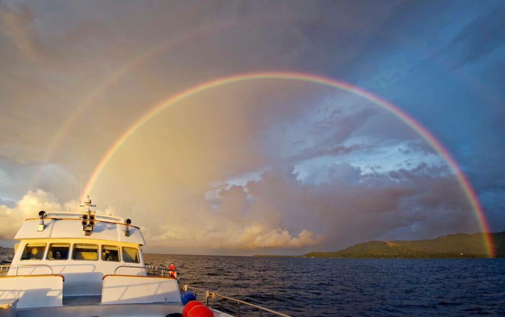 The rainbows of Truk lagoon by Martin Cridge